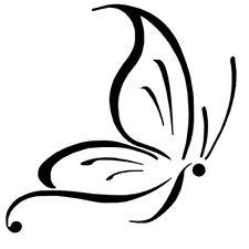 Sticker Papillon 10x10cm à 30x30cm, Tailles et Coloris Divers (PAP008)