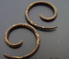 Pair Coco Wood Spirals Coconut Expanders Gauges Plugs Earrings Gauge