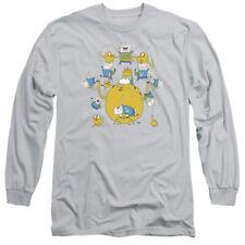 Adventure Time Finn&Jake Group Mens Long Sleeve Shirt