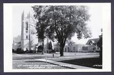 St. Johns Ev. Lutheran Church Mendota Illinois IL RPPC postcard