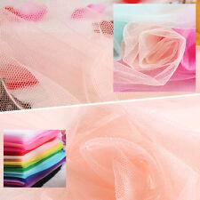 Tutu Tulle Wedding Bridal Dress Mesh Fabric Cloth Curtain Material Soft By Metre