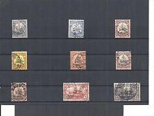 Kiautschou, Deutsche Kolonien 1900, Einzelmarken aus MiNrn: 5 - 37 o, gestempelt