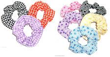 Diseño 'Pata de Gallo' Panal Estampado Coletero Scrunchies By Sherry