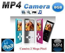 Lecteur MP3 / MP4 Appareil photo / Camera 8GB + FM integré (5 Coloris au choix)