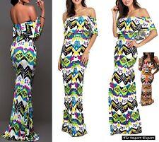 Vestito Lungo Donna Fantasia Geometrica Woman Maxi Dress Geometrical - 110264