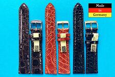 XS echt Kroko Band  16,18,20mm  schwarz oder braun Made in Germany