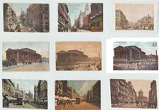 Vintage Postcards Liverpool Lord St. Dale St. Castle St. Saint Georges Hall