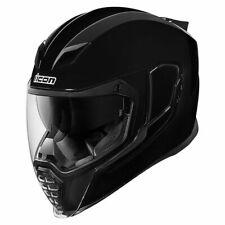 Icon Airflite Rubatone Integralhelm Glänzend Schwarz Integral – Helm Motorrad