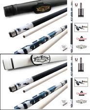 Champion White Dragon Pool Cue Stick, Predator Uniloc Joint,White or Black Case