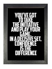 Chris Evert Quote Dedication Inspiration Confidence Black & White Poster