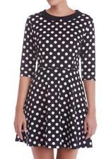 Sugarhill Boutique Sylvia Spotty Dress 8-16 Black & White Polka Dot