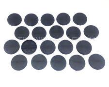 30mm Round Black Plastic Slotta / No Slot Bases - Wargaming Warhammer 40k