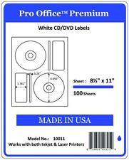 PO11  CD/DVD Labels Matte Memorex Core Compatible Full Face Laser InkJet