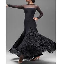 Latin Foxtrot Ballroom Dance Dress Modern Salsa Waltz Standard Long Dress#YG018