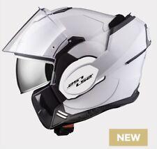 LS2 FF399 Valiant Motorbike Motorcycle 180° degree Flip Front Helmet Gloss White