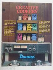 retro magazine advert 1980 IBANEZ creative cookery