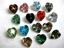 15 pulsanti, piccolo cuore, in vari colori, colore a scelta, 15mm K18