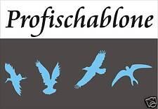 Wandschablone, Malerbedarf, Malerschablone, Stupfschablone - Vogelschablone