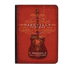 """Nashville guitar Rojo Música Universal 9-10.1 """"Flip Cuero Funda Protectora"""