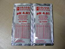 2  X HANNA PH METER BUFFER CALIBRATION SOLUTION SACHETS  HI 70004  4.01 pH