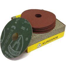 "Klingspor Fibre discs 36G 60G or 80G, professional sanding discs 115mm (4.5"")"