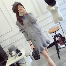 new autumn Korean fashion Shitsuke knitting Cardigan sweater two-piece dress
