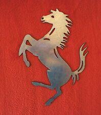 Cavallino Rampante logo in ferro taglio plasma cnc stemma fregio decoro GARAGE