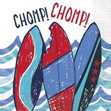 Tiburón 33cm Servilletas Papel Fiesta Pañuelos surf's Up Chomp ! Océano