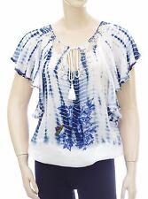 DESIGUAL BLUS MADRID BLANCO 73B2WF6  tie and dye femme coloris 1000 blanc