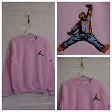 Actual Fact Biggie x Jordan Hip Hop Pink Crew Neck Sweatshirt Top