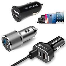 Aluminum Alloy Car Charger Adapter Dual USB Port Fast Car Charging Mini FlushFit