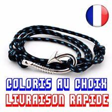 Bracelet Hameçon Ancre Marin Corde Nautique Anchor Sailor Pulseras Idée Cadeau