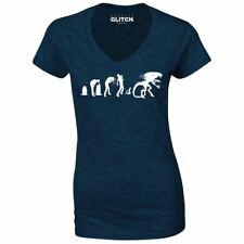 a925fa67 Women's Evolution Of Alien V-Neck T-Shirt - Nostromo Ripley Horror Space Sci