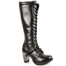 New Rock Boots Femmes Punk Gothic Bottes - Style TR005 S1 Noir