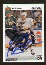 Rich Sutter signed autograph auto 1991-92 Upper Deck Hockey Card