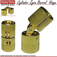 Solid Brass Cylinder Barrel Zysa Invisible Hinge for Caravan Worktops 180º New
