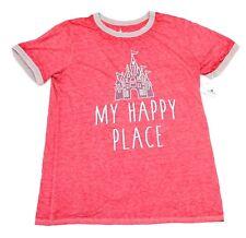 "New Disney Parks Walt Disney World ""My Happy Place"" Cinderella Castle T Shirt"