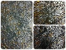 Wild Animal Print Metallic Foil on Stretch Lightweight Polyester Spandex Fabric