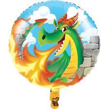 Dragón Fuego Breathing Castillo Cumpleaños 45.7cm Fiesta Globo metalizado 1-5pk