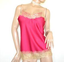 TOP débardeur rose fuchsia dentelle brodé femme haut blouse made en Italy G91