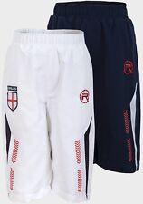 Boys 3/4 Length Football Shorts Boys Official England Respect 3/4 Cropped Pants