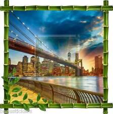 Sticker mural déco bambou New York réf 7115
