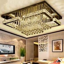 rectangle Crystal Light LED ceiling lamp modern luxury Diving room Lobby bedroom
