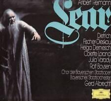"""ALBRECHT """"REIMANN: LEAR"""" 3-LP BOX SET 1979 deutsche grammophone"""