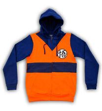 Adult Anime Dragon Ball Z Goku Symbol Orange Costume Zip Up Hoodie Sweatshirt