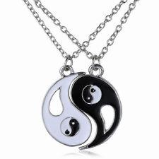 Best Friends Ying Yang Necklace Two Bagua Charm Pendant peace love companion