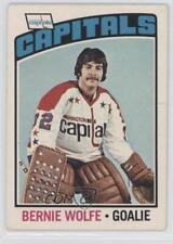 1976-77 O-Pee-Chee #227 Bernie Wolfe Washington Capitals RC Rookie Hockey Card