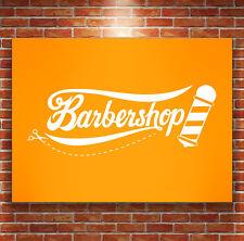 Barber Shop PARED PEGATINA VINILO Cafetería Barra Adhesivo Peluquería SALE WIF