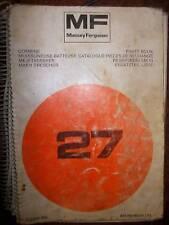 Massey Ferguson MF27 : catalogue de pièces 1985