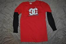 DC Shoes Boys Long Sleeve Boomer 2Fer T-Shirt ADBKT00105 See Sizes Red/Black NWT
